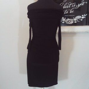 Cache Strapless Ruched Party Cocktail Dress Size 2